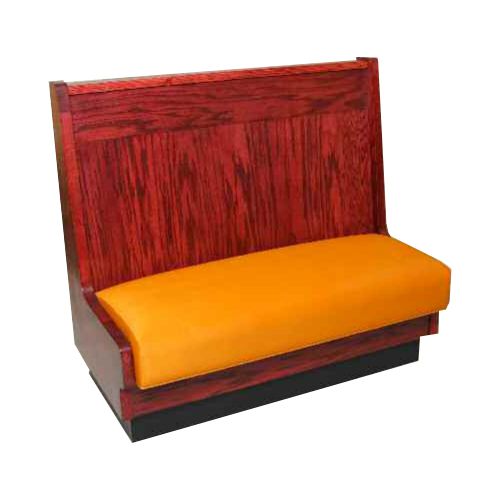 red wood booth with orange seat Crystal Minnesota