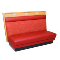 wood booth with red cushion Crystal Minnesota