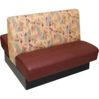 booth with red leather cushion Crystal Minnesota