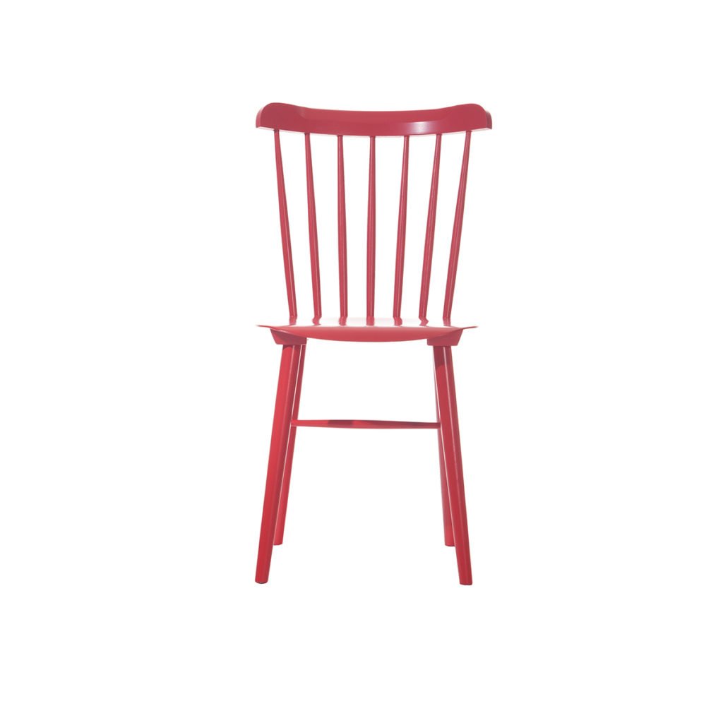 red no arm wood chair Crystal Minnesota