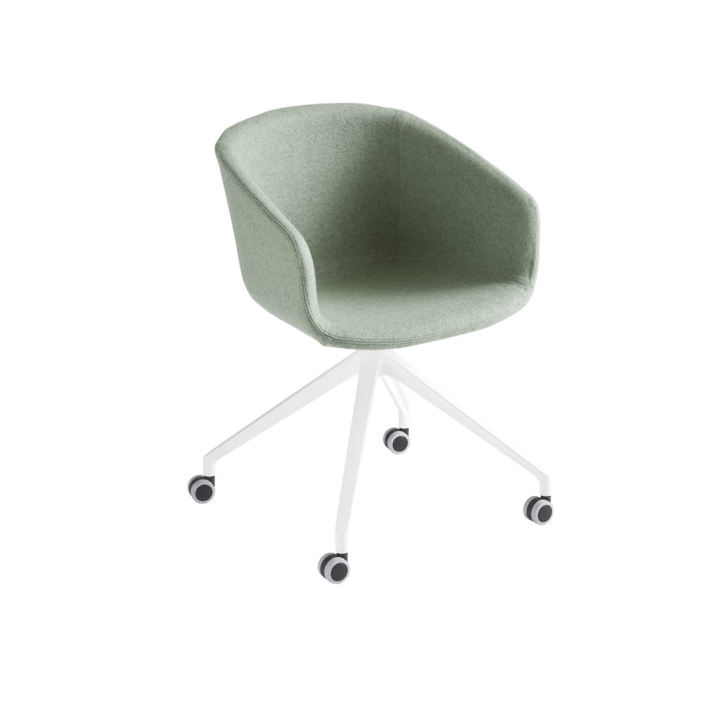 green cloth swivel chair Crystal Minnesota