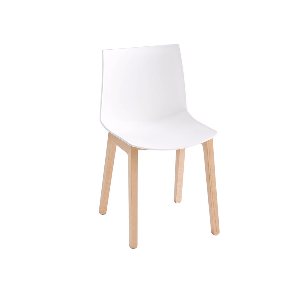 white chair with wood legs Crystal Minnesota