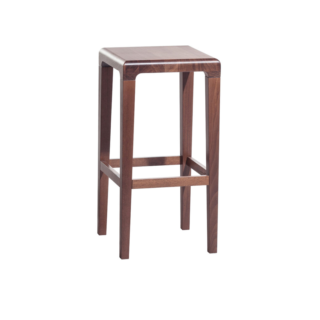dark brown wood stool Crystal Minnesota