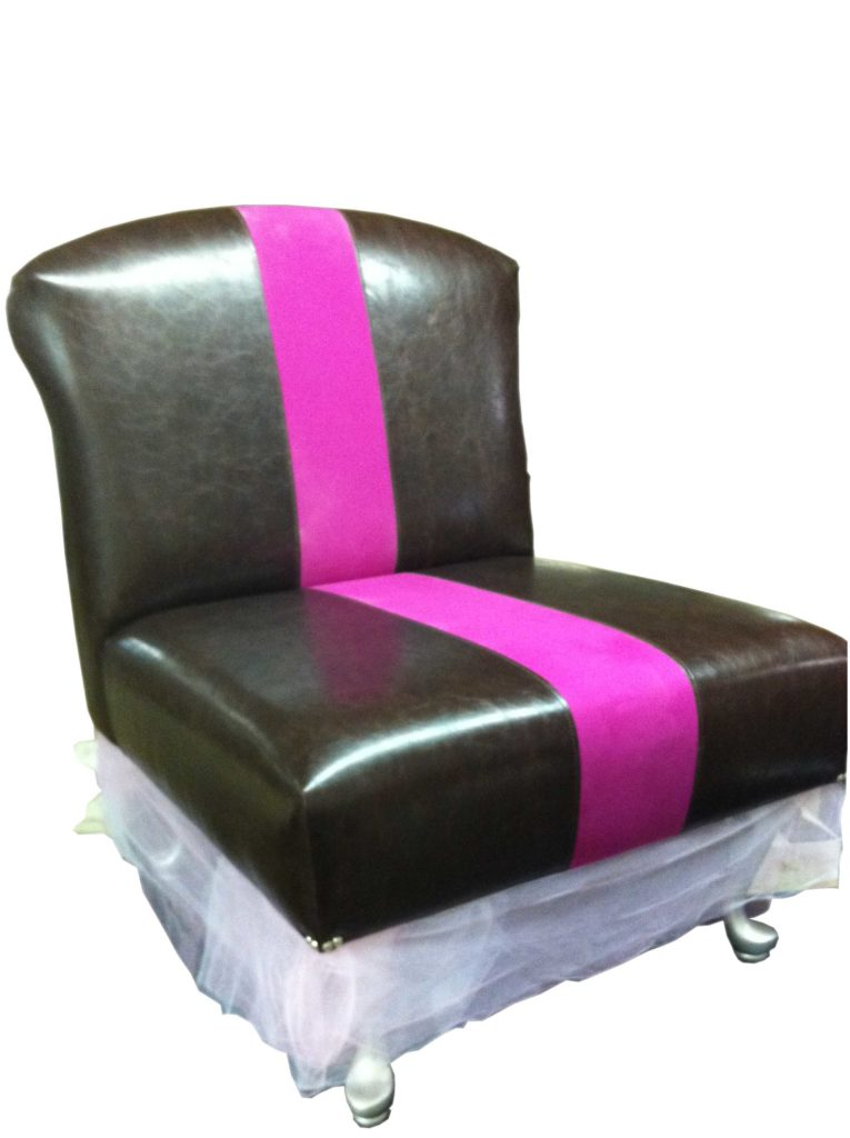 chair with pink line down the middle Crystal Minnesota